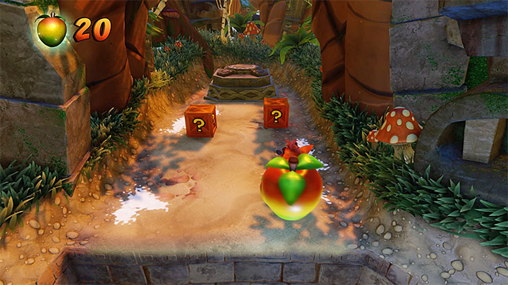 Soon after you get past the abovementioned obstacle, you will reach a spot where you can explore the upper, optional path - Crash Crush | Crash Bandicoot 2 | Levels - Crash Bandicoot 2 - Ice Warp Room - Crash Bandicoot N. Sane Trilogy Game Guide