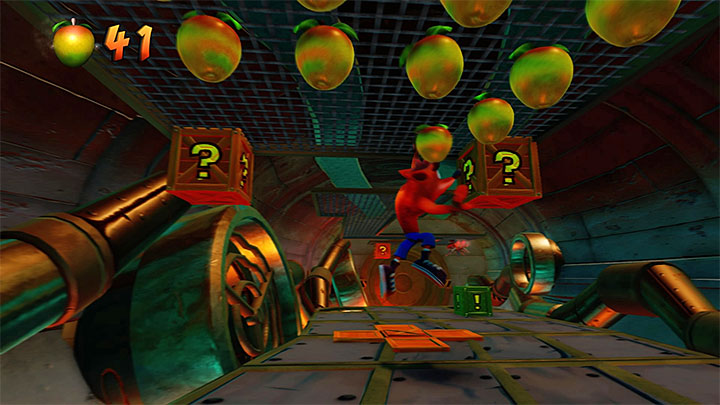 After you reach a new location in the sewers, head towards the upper edge of the screen - The Eel Deal | Crash Bandicoot 2 | Levels - Crash Bandicoot 2 - Ice Warp Room - Crash Bandicoot N. Sane Trilogy Game Guide