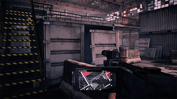 The last location in which you must be stealthy is the big warehouse presented in the picture above - Clean Job | Trophy Guide - Trophy Guide - Get Even Game Guide