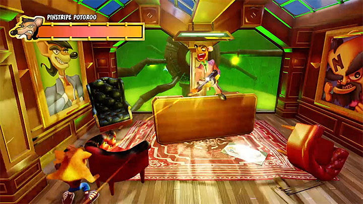 Dont leave your cover - Pinstripe Patooey | Crash Bandicoot Trophy Guide - Crash Bandicoot - Crash Bandicoot N. Sane Trilogy Game Guide