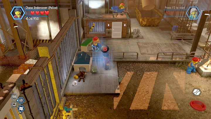 In the other area, you will first have to obtain the key for the worker and this way, open the gate - Construction site | Chapter 12 | Walkthrough - Chapter 12 - LEGO City: Undercover Game Guide