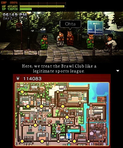 Screenshot for River City: Rival Showdown on Nintendo 3DS