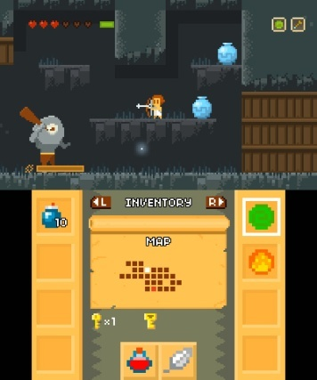 Screenshot for Elliot Quest on Nintendo 3DS